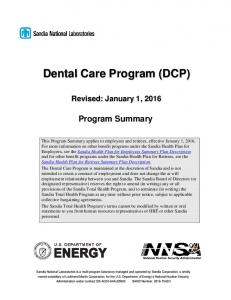 Dental Care Program (DCP)