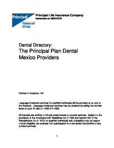 Dental Directory: The Principal Plan Dental Mexico Providers