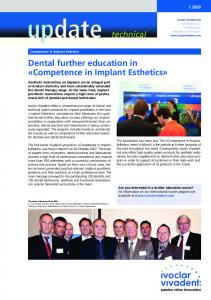 Dental further education in «Competence all ceramic in Implant Esthetics»