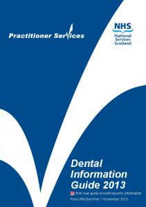 Dental Information Guide 2013