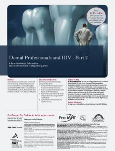Dental Professionals and HIV - Part 2