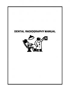 DENTAL RADIOGRAPHY MANUAL