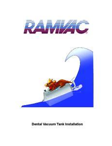 Dental Vacuum Tank Installation