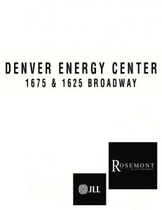 DENVER ENERGY CENTER & 1625 BROADWAY