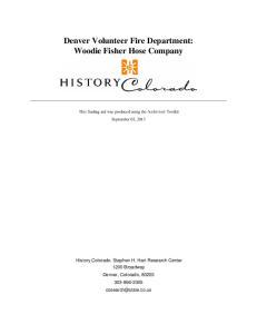 Denver Volunteer Fire Department: Woodie Fisher Hose Company