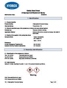 Deodorant Spray. 1. Identification