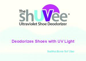 Deodorizes Shoes with UV Light