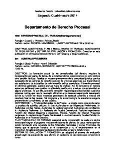 Departamento de Derecho Procesal
