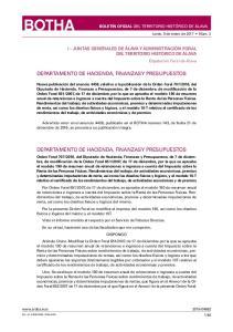 DEPARTAMENTO DE HACIENDA, FINANZAS Y PRESUPUESTOS DEPARTAMENTO DE HACIENDA, FINANZAS Y PRESUPUESTOS