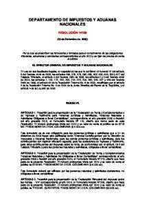 DEPARTAMENTO DE IMPUESTOS Y ADUANAS NACIONALES