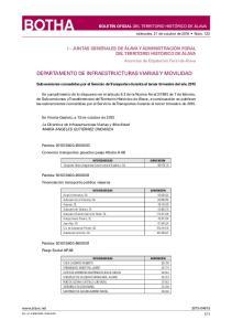 DEPARTAMENTO DE INFRAESTRUCTURAS VIARIAS Y MOVILIDAD