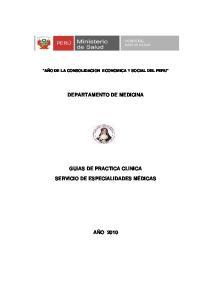DEPARTAMENTO DE MEDICINA