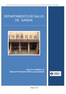 DEPARTAMENTO DE SALUD DE GANDIA