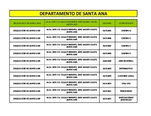 DEPARTAMENTO DE SANTA ANA