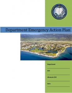Department Emergency Action Plan