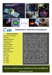 Department of Astronomy & Astrophysics