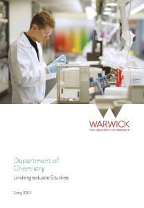Department of Chemistry. Undergraduate Studies