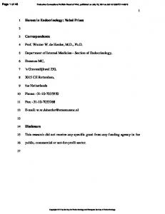 Department of Internal Medicine - Section of Endocrinology,