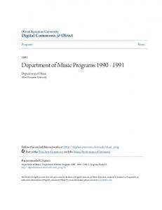 Department of Music Programs