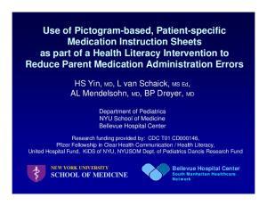Department of Pediatrics NYU School of Medicine Bellevue Hospital Center