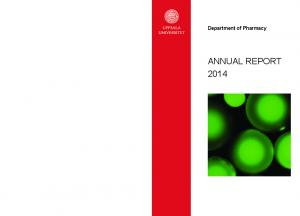 Department of Pharmacy ANNUAL REPORT