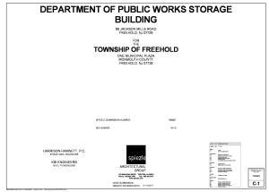 DEPARTMENT OF PUBLIC WORKS STORAGE BUILDING