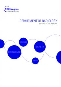 Department of Radiology Quality Report