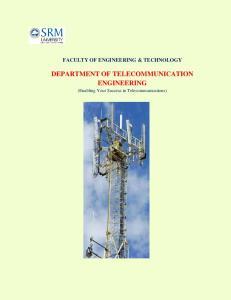 DEPARTMENT OF TELECOMMUNICATION ENGINEERING