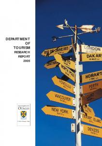 DEPARTMENT OF TOURISM RESEARCH REPORT 2005