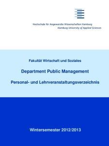 Department Public Management