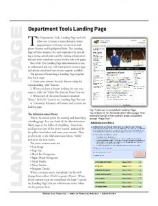 Department Tools Landing Page