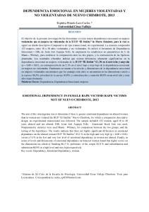 DEPENDENCIA EMOCIONAL EN MUJERES VIOLENTADAS Y NO VIOLENTADAS DE NUEVO CHIMBOTE, 2013
