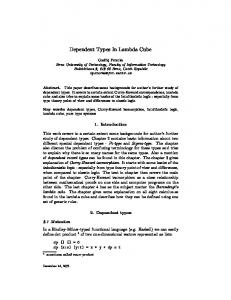 Dependent Types In Lambda Cube