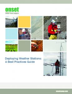 Deploying Weather Stations: A Best Practices Guide