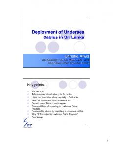 Deployment of Undersea Cables in Sri Lanka