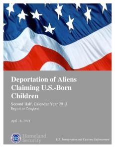 Deportation of Aliens Claiming U.S.-Born Children