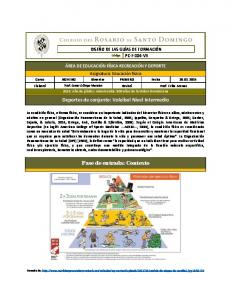 Deportes de conjunto: Voleibol Nivel Intermedio. Fase de entrada: Contexto