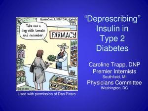 Deprescribing Insulin in Type 2 Diabetes
