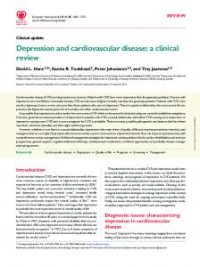 Depression and cardiovascular disease: a clinical review