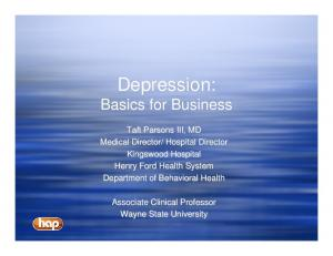 Depression: Basics for Business