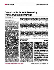 Depression in Patients Recovering From a Myocardial Infarction