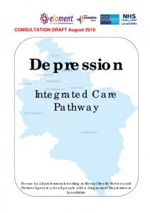 Depression. Integrated Care Pathway
