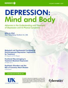DEPRESSION: Mind and Body