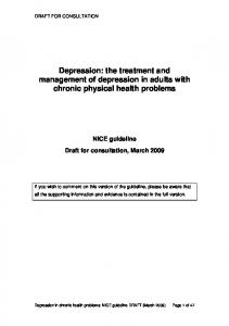 Depression: the treatment and management of depression in adults with chronic physical health problems