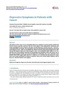 Depressive Symptoms in Patients with Cancer
