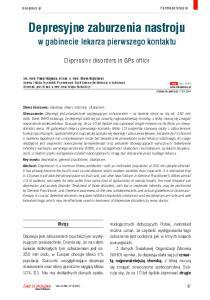 Depresyjne zaburzenia nastroju