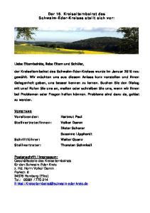 Der 18. Kreiselternbeirat des Schwalm-Eder-Kreises stellt sich vor: