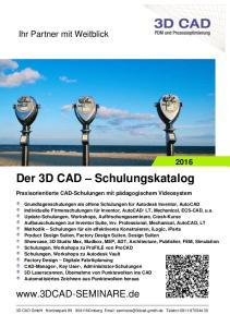 Der 3D CAD Schulungskatalog