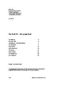 Der Audi A1 der junge Audi