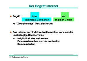 Der Begriff Internet